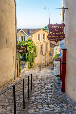SAINT EMILION,FRANCE - SEPTEMBER 1,2016 - In the streets of Saint Emilion. Saint Emilion is a commune in the Gironde department in southwestern France.