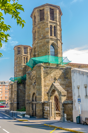 commune: LE PUY EN VELAY,FRANCE - SEPTEMBER 2,2016 - Carmes church in Le puy en Velay. Le Puy en Velay is a commune in the Haute Loire department in south-central France near the Loire river. Editorial