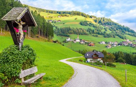lorenzo: View at Onach (Onies) village near San Lorenzo di Sebato in Dolomites of Italy