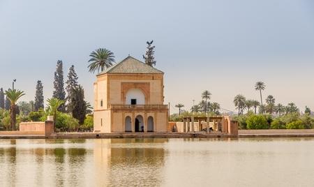 Saadian garden pavilion of the Menara gardens in Marrakesh - Morocco