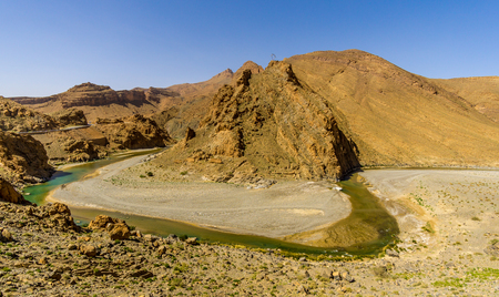 View at Horseshoe Bend of the river Ziz in Morocco