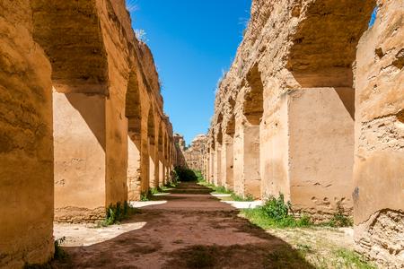 Royal Stables Heri es-Souani in Meknes city of Morocco Banco de Imagens