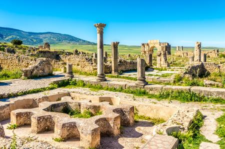 volubilis: Ruins of Bath in ancient city Volubilis ,Morocco