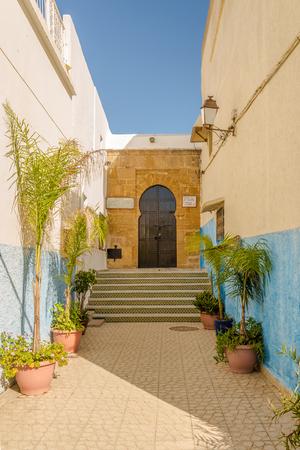 Straße in Kasbah der Udayas in Rabat - Marokko Standard-Bild - 78982486