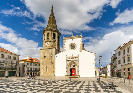 significantly: TOMAR,PORTUGAL - MAY 11,2017 - View at the St. John Baptist church in Tomar. Tomar is one of Portugals historical jewels and more significantly was the last Templar town to be commissioned for construction. Editorial