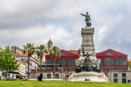 PORTO, PORTUGAL - MAY 13,2017 - Monument of Henry the Navigator in Porto. Porto is one of the oldest European centers, and its historical core was proclaimed a World Heritage Site by UNESCO in 1996.