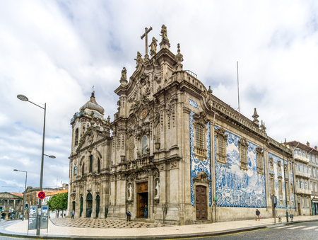 PORTO, PORTUGAL - MAY 13,2017 - View at the churches Carmelitas and Carmo in Porto. Porto is one of the oldest European centers, and its historical core was proclaimed a World Heritage Site by UNESCO in 1996.