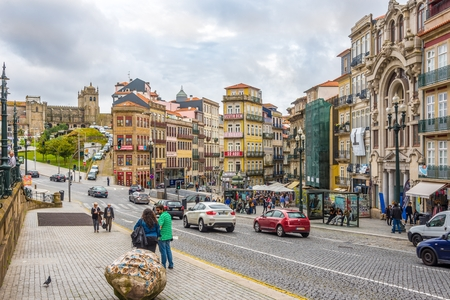 unesco world heritage site: PORTO,PORTUGAL - MAY 13,2017 - In the streets of Porto.  Porto is one of the oldest European centers, and its historical core was proclaimed a World Heritage Site by UNESCO in 1996. Editorial