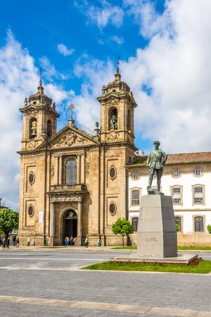 BRAGA,PORTUGAL - MAY 14,2017 - View at the Populo church in Braga. Braga was under the Roman Empire, known as Bracara Augusta. Editorial