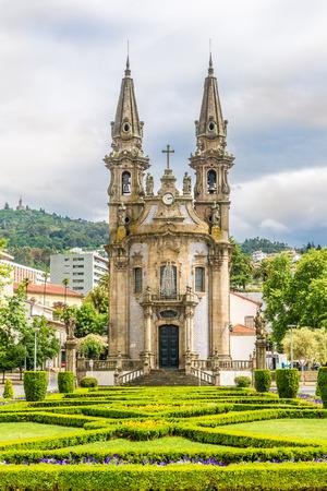 View at the church of Nossa Senhora da Consolacao in Guimaraes - Portugal