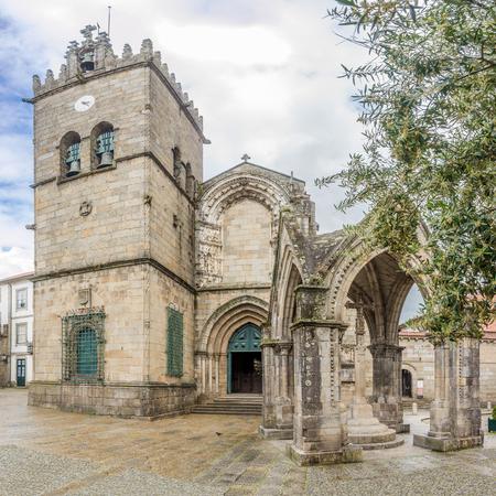 View at the church of Nossa Senhora da Oliveira in Guimaraes - Portugal