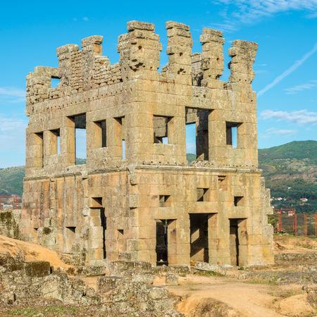 View at the Centrum Cellas tower in Colmeal da Torre near Belmonte town in Portugal