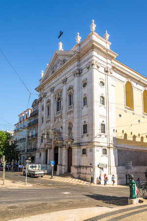 incarnation: LISBON, PORTUGAL - MAY 17,2017 - View at the Church of Our Lady of the Incarnation in Lisbon. Lisbon is the capital of Portugal.