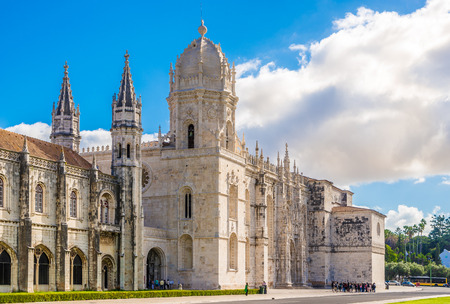 View at the church of Santa Maria de Belem and Monastery of Jeronimos in Lisbon - Portugal