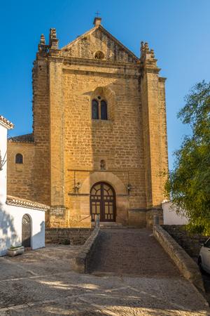 View at the church of Espirito Santo in Ronda - Spain Stock Photo