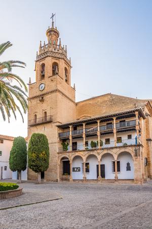 View at the church of Santa Maria la Mayor in Ronda - Spain