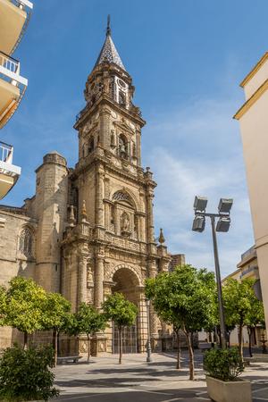 Facade of church San Miguel in Jerez de la Frontera - Spain
