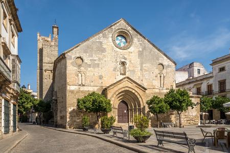 San Dionisio church at the Asuncion square in Jerez de la Frontera - Spain Stock Photo