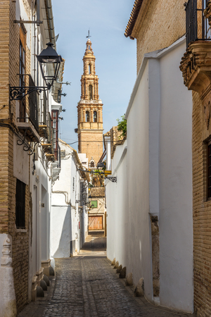 View at the Bell tower of church San Gil in Ecija - Spain