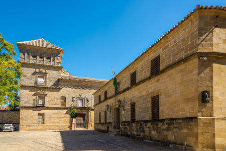 UBEDA,SPAIN - OCTOBER 2,2017 - Building of Justice palace and Mancera palace in Ubeda. Ubeda possesses 48 monuments, and more of another hundred of buildings of interest, almost all of them of Renaissance style.