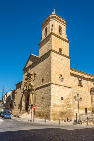 UBEDA,SPAIN - OCTOBER 2,2017 - View at the Holy Trinity church in Ubeda. Ubeda possesses 48 monuments, and more of another hundred of buildings of interest, almost all of them of Renaissance style.