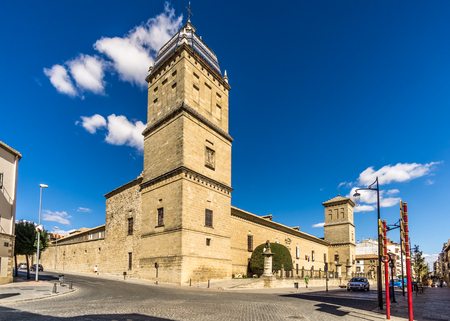 UBEDA,SPAIN - OCTOBER 2,2017 - View at the cultural center in Ubeda. Ubeda possesses 48 monuments, and more of another hundred of buildings of interest, almost all of them of Renaissance style.