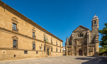 UBEDA,SPAIN - OCTOBER 2,2017 - View at the chapel of Sacra Capilla del Salvador in Ubeda. Ubeda possesses 48 monuments, and more of another hundred of buildings of interest, almost all of them of Renaissance style.