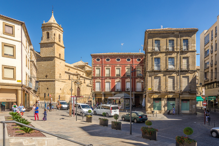 UBEDA,SPAIN - OCTOBER 2,2017 - View from place of Andalusia at the Holy Trinity church in Ubeda. Ubeda possesses 48 monuments, and more of another hundred of buildings of interest, almost all of them of Renaissance style.