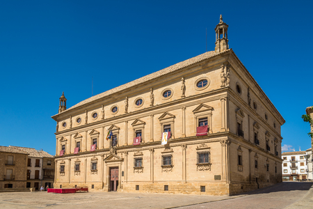 UBEDA,SPAIN - OCTOBER 2,2017 - View at the City hall in Ubeda. Ubeda possesses 48 monuments, and more of another hundred of buildings of interest, almost all of them of Renaissance style. Editorial