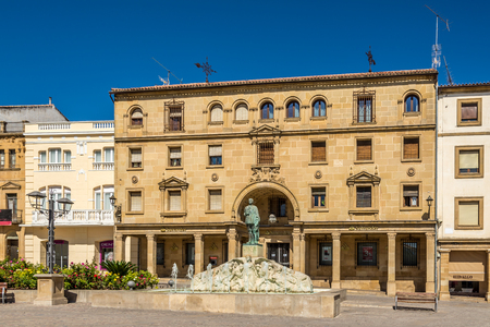 UBEDA,SPAIN - OCTOBER 2,2017 - At the Andalusia place in Ubeda. Ubeda possesses 48 monuments, and more of another hundred of buildings of interest, almost all of them of Renaissance style.