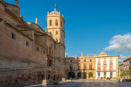 View at the Bell tower of Cathedral San Patrick in Lorca - Spain Standard-Bild