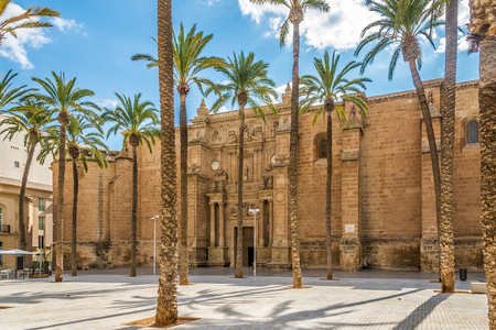 View at the Cathedral of Almeria in Spain Banco de Imagens
