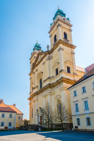 View at the Assumtion church in Valtice - Czech republic,Moravia