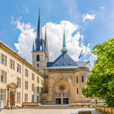 View at the Cathedral of Notre Dame - Luxembourg City