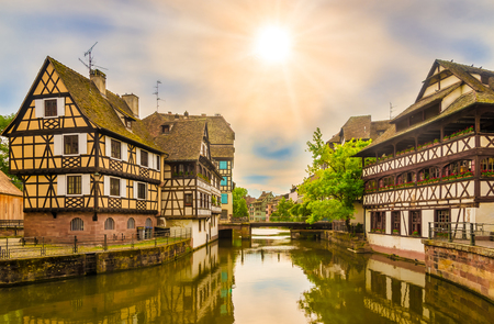View at the Petit France quarter in Strasbourg, France