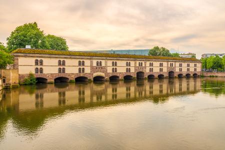 View at the Barrage Vauban bridge in Strasbourg, France