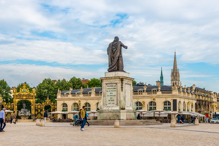 NANCY,FRANCE - MAY 23,2018 - At the Stanislas place in Nancy. Nancy is situated on the left bank of the river Meurthe.