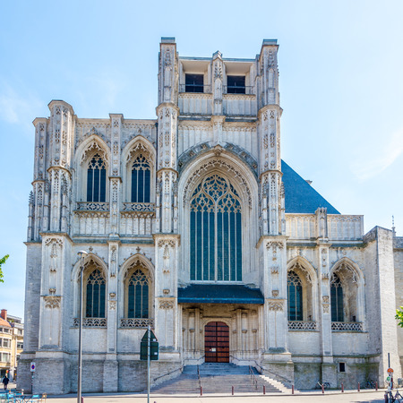 View at the Church Of Saint Peter in Leuven, Belgium Stockfoto