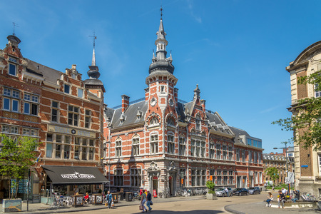 LEUVEN, BELGIUM - MAY 17,2018 - In the streets of Leuven. Leuven is located about 25 kilometers east of Brussels.