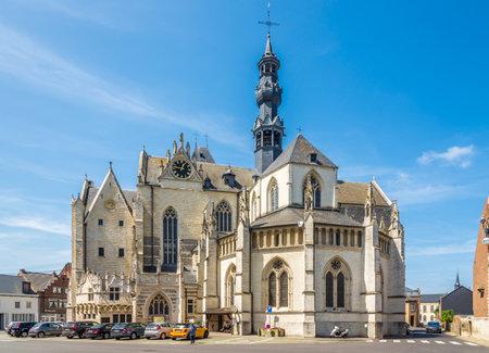 ZOUTLEEUW,BELGIUM - MAY 17,2018 - View at the Church of Saint Leonard in Zoutleeuw. Zoutleeuw is a municipality and city in the Hageland. Redactioneel