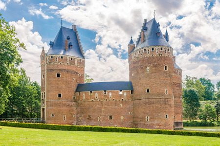 BEERSEL,BELGIUM - MAY 21,2018 - View at the Beersel castle. The castle was first mentioned in the 12th century.