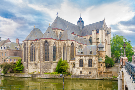 View at the Church of Saint Michael in Ghent, Belgium