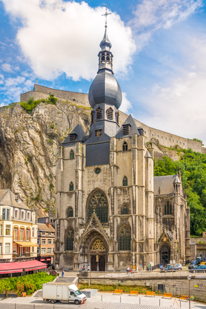 View at the church of Our Lady Assumtion in Dinant, Belgium