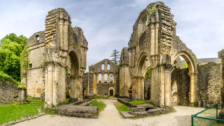 View at the ruins of Villers devant Orval Monastery - Belgium