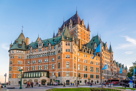 QUEBEC,CANADA - JUNE 16,2018 - View at the Chateau of Frontenac in Quebec. Quebec is the capital city of the Canadian province of Quebec.
