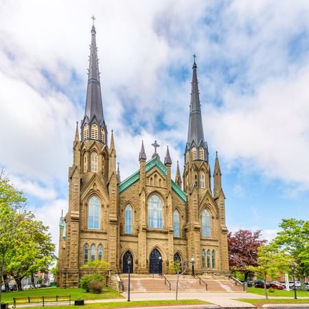 View at the Basilica of Saint Dunstant in Charlottetown, Canada 版權商用圖片