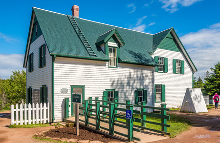 CAVENDISH, CANADA - JUNE 19,2018 - The Green Gables farmhouse is located in Cavendish. There is a museum in the house 報道画像