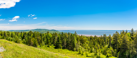 Panoramic view from the outlook near Bay of Fundy - Canada