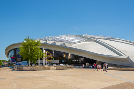 MONTREAL, CANADA - JUNE 22,2018 - View at the Biodome in area of Olymic stadium in Montreal. Games of the XXI Olympiad took place in 1976.