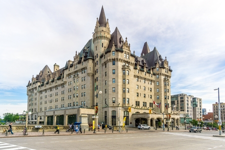 OTTAWA,CANADA - JUNE 24,2018 - View at the Chateau of Laurier in Ottawa. Ottawa is the capital city of Canada.